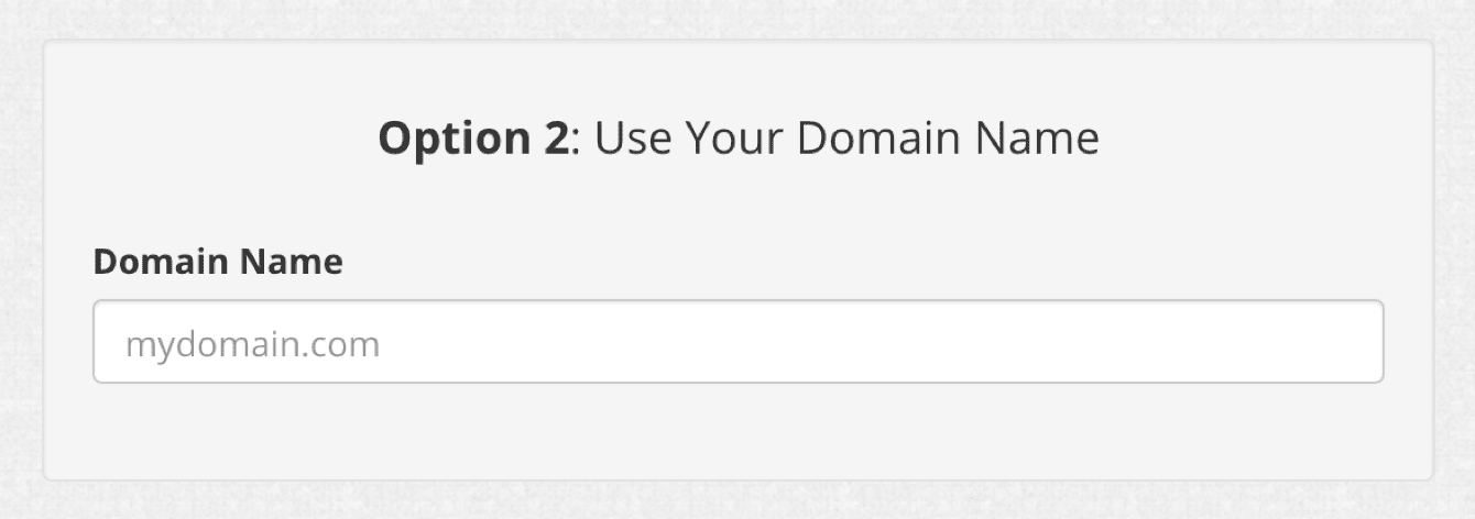 Enter your existing hostname in Option 2.