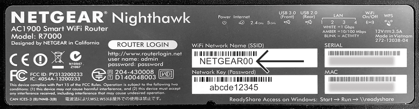 You can find the default network name on the bottom of your Netgear router.