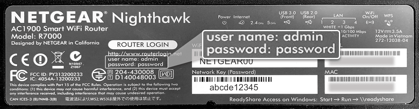 You can find the default router admin password on the bottom of your Netgear router.
