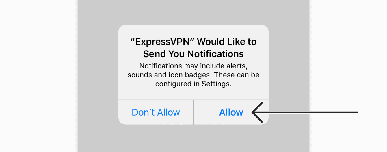 "Tap ""Allow"" to confirm you'd like to receive notifications."