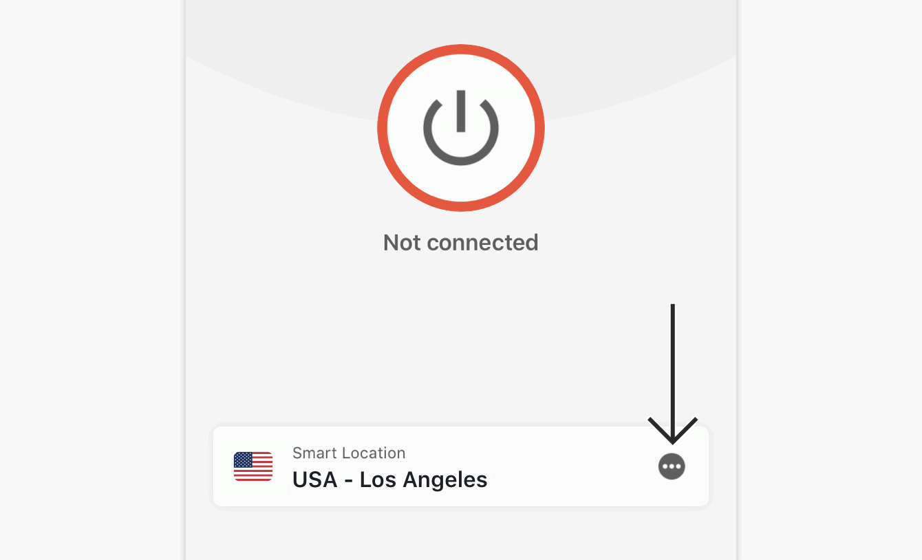 Tap the Location Picker on the ExpressVPN app.