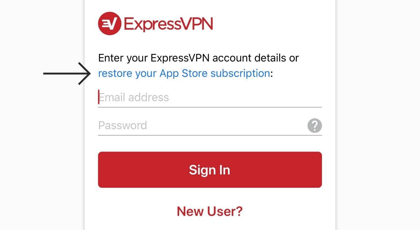 "Tap ""restore your App Store subscription."""