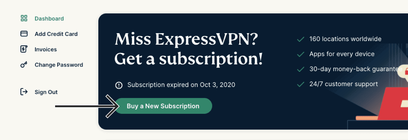 "Click ""Buy a New Subscription."""
