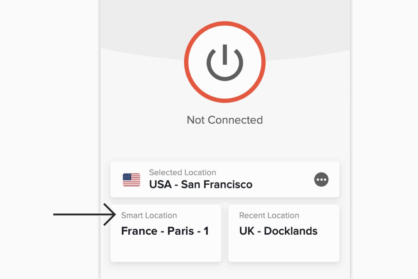 "Click ""Smart Location."""