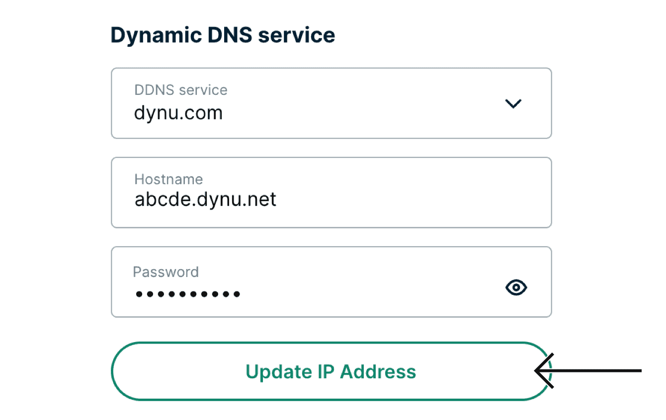 "Select ""Update IP Address."""