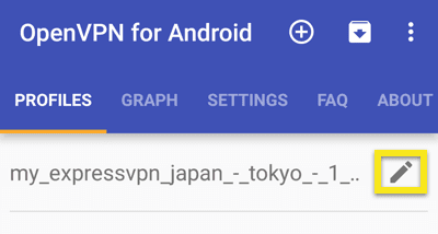 android openvpn edit profile