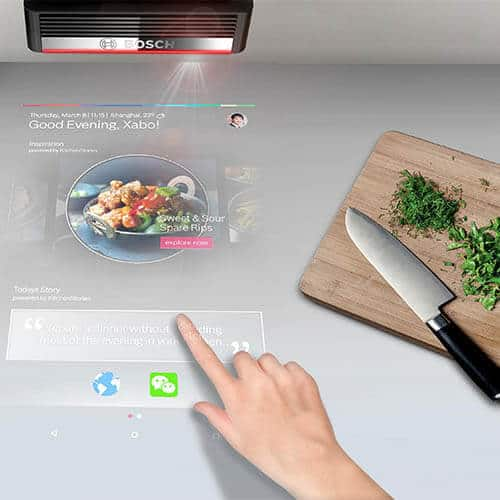 Bosch PAI Projector is a perfect appliance for luxury modular kitchen.