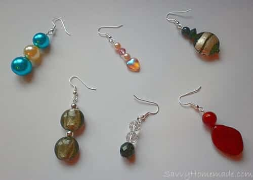 simple head pin earrings