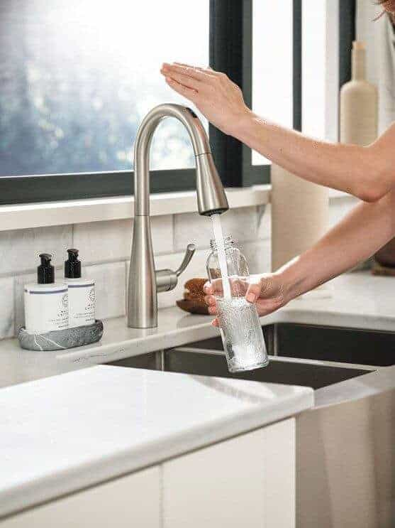 The U by Moen is a smart faucet for luxury kitchen designs