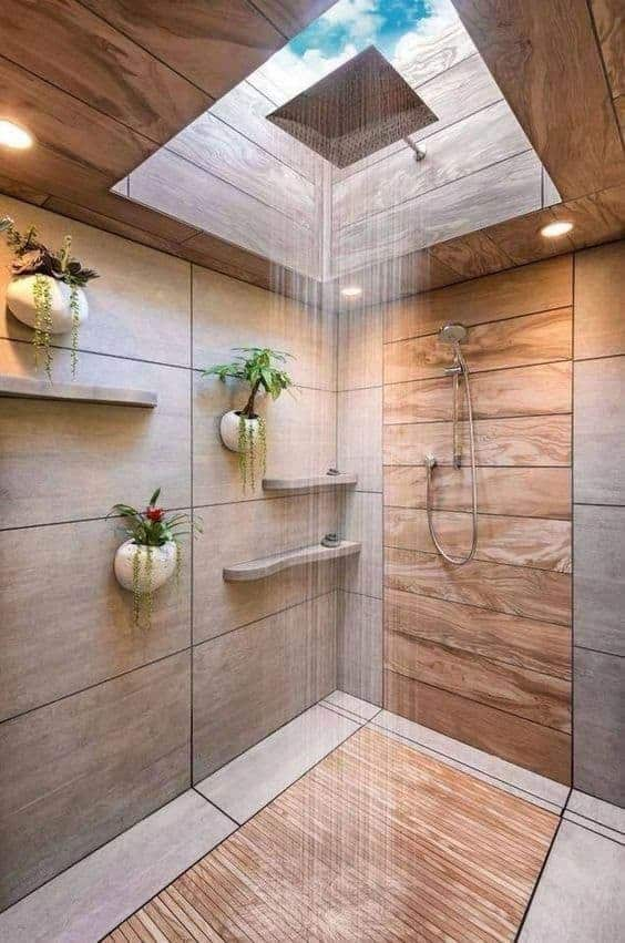 wooden false ceiling designs bathroom