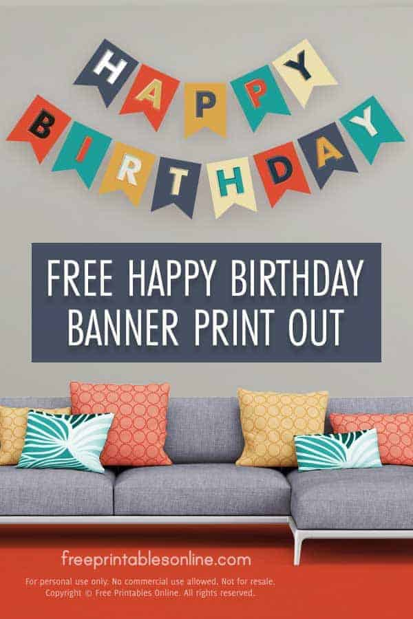 Happy Birthday Banner Print Out Free Printables Online