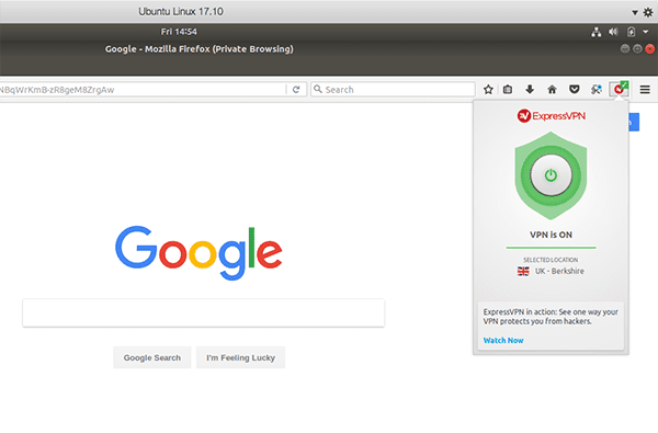 Use the ExpressVPN browser extension.