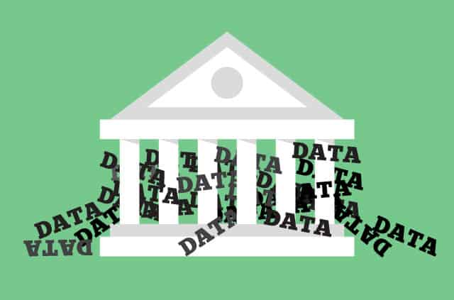 Supreme Court building overflowing with data