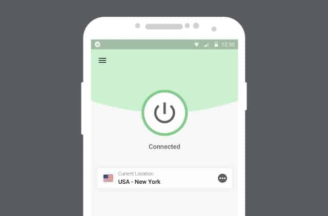 ExpressVPN's new app for Android.