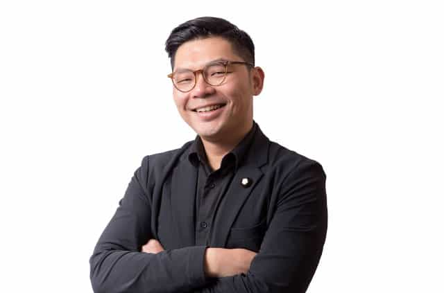 A profile shot of Taiwanese legislator Jason Hsu.