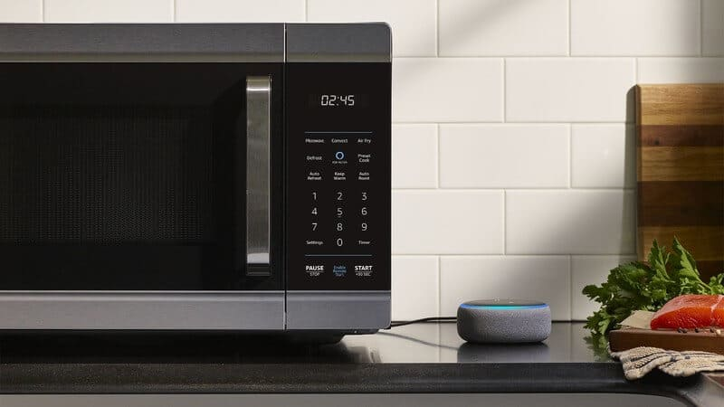 Amazon smart oven is a multi-functional intelligent countertop kitchen appliance for a smart kitchen.