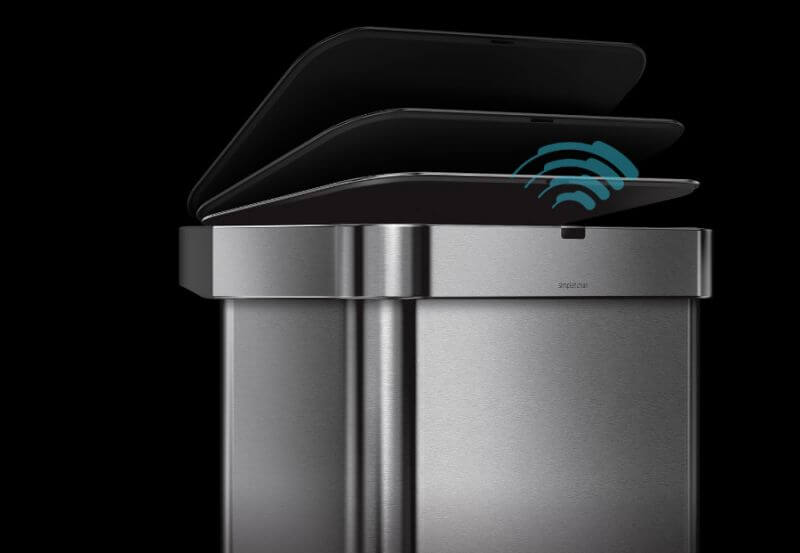 Simplehuman trash can is a voice-activated smart kitchen product