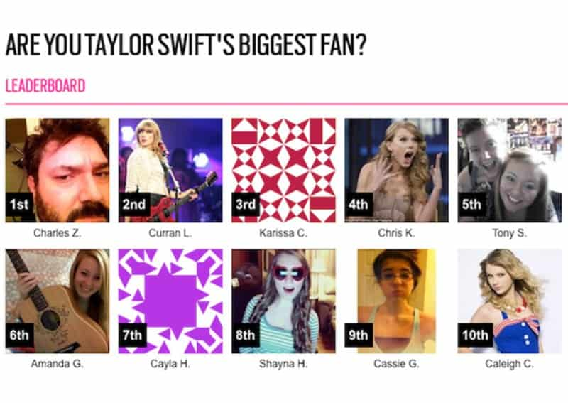A 39 year old man wins a competition to meet Taylor Swift.
