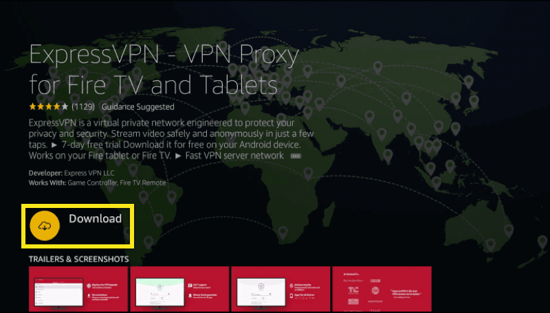 "Click ""Download"" to download the ExpressVPN app."