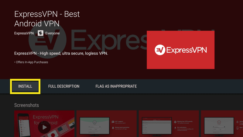 Install the ExpressVPN app on Mi Box.