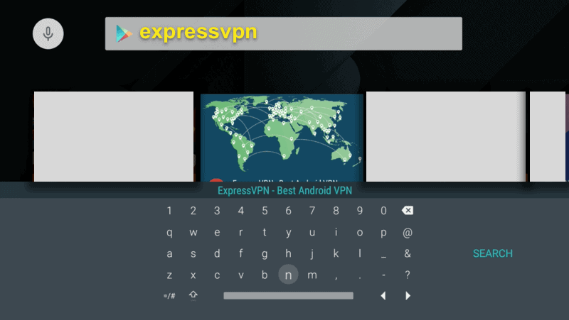 Search for the ExpressVPN app.