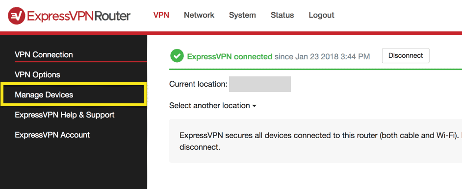 expressvpn router manage devices