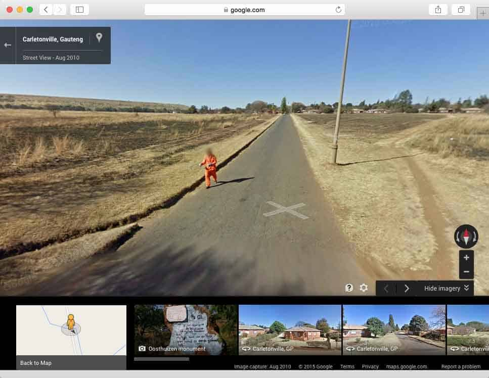 escaped convict caught on google maps