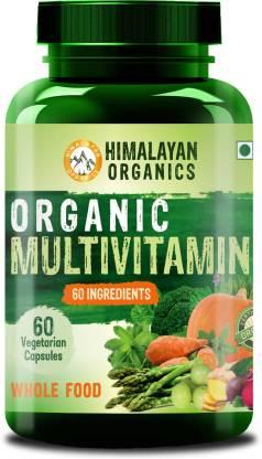Himalayan Organics Organic Multivitamin with 60+ Certified Organic Extracts(60 No)