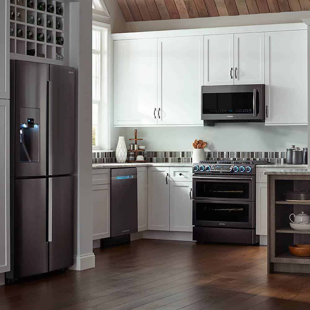 12 Gorgeous Slate Appliances With White Cabinets Ideas For Inspirations Jimenezphoto