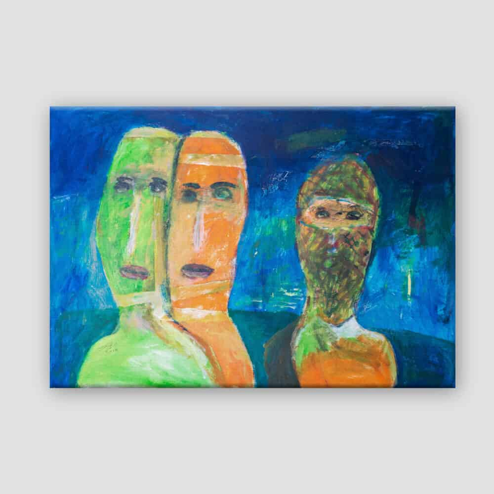 Couple and a Masked Man by Ibrahim Al Mozain