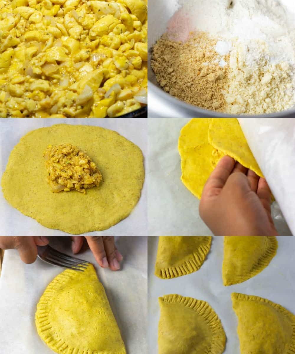 Step by step photos of how to make Jamaican ackee patty recipes