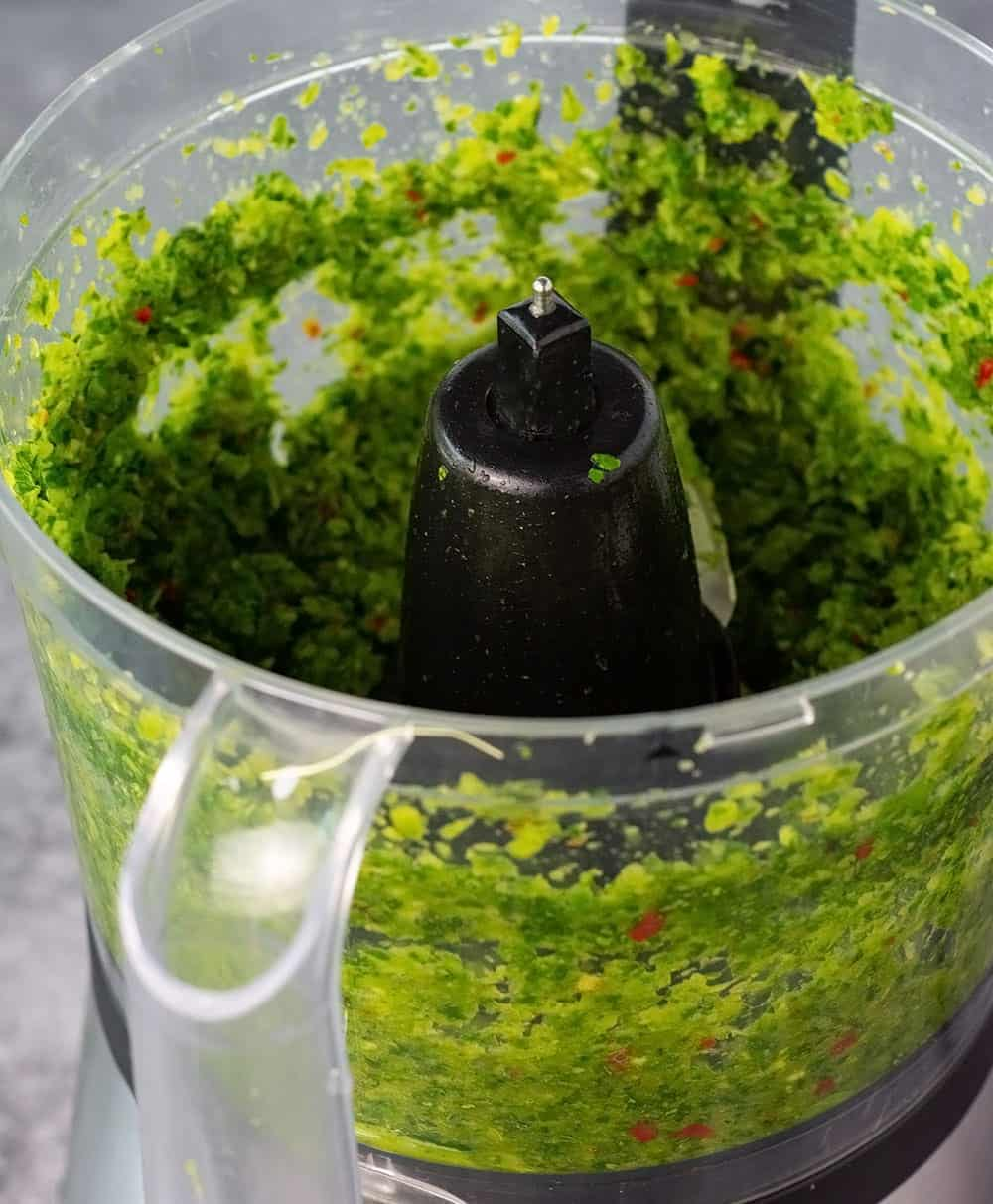 food-processor with green seasoning