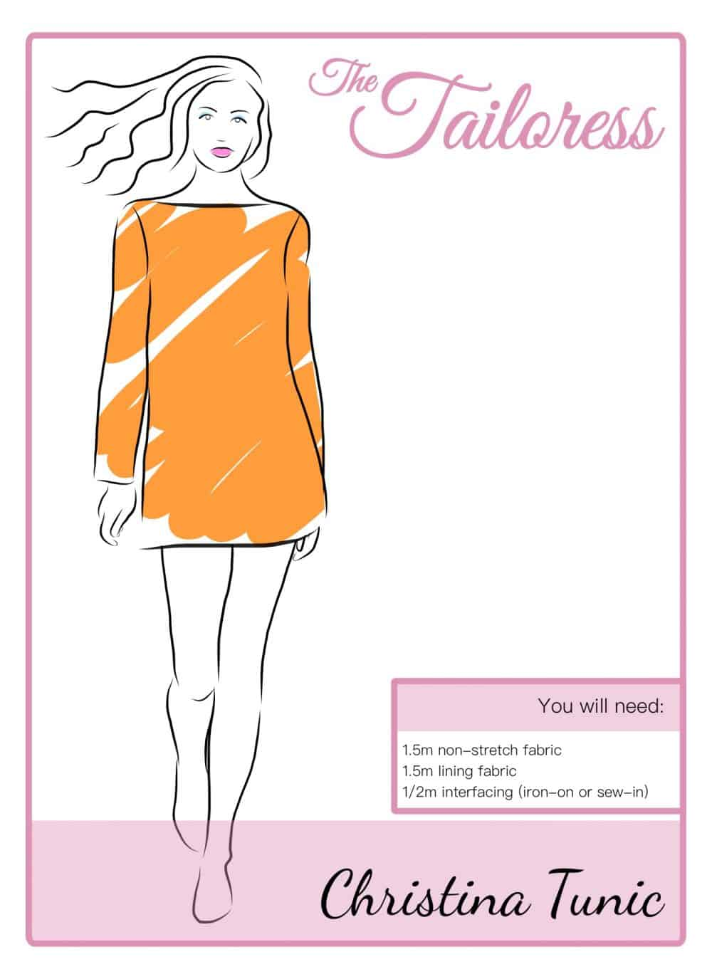 The Tailoress PDF Sewing Patterns - Christina Tunic Tutorial