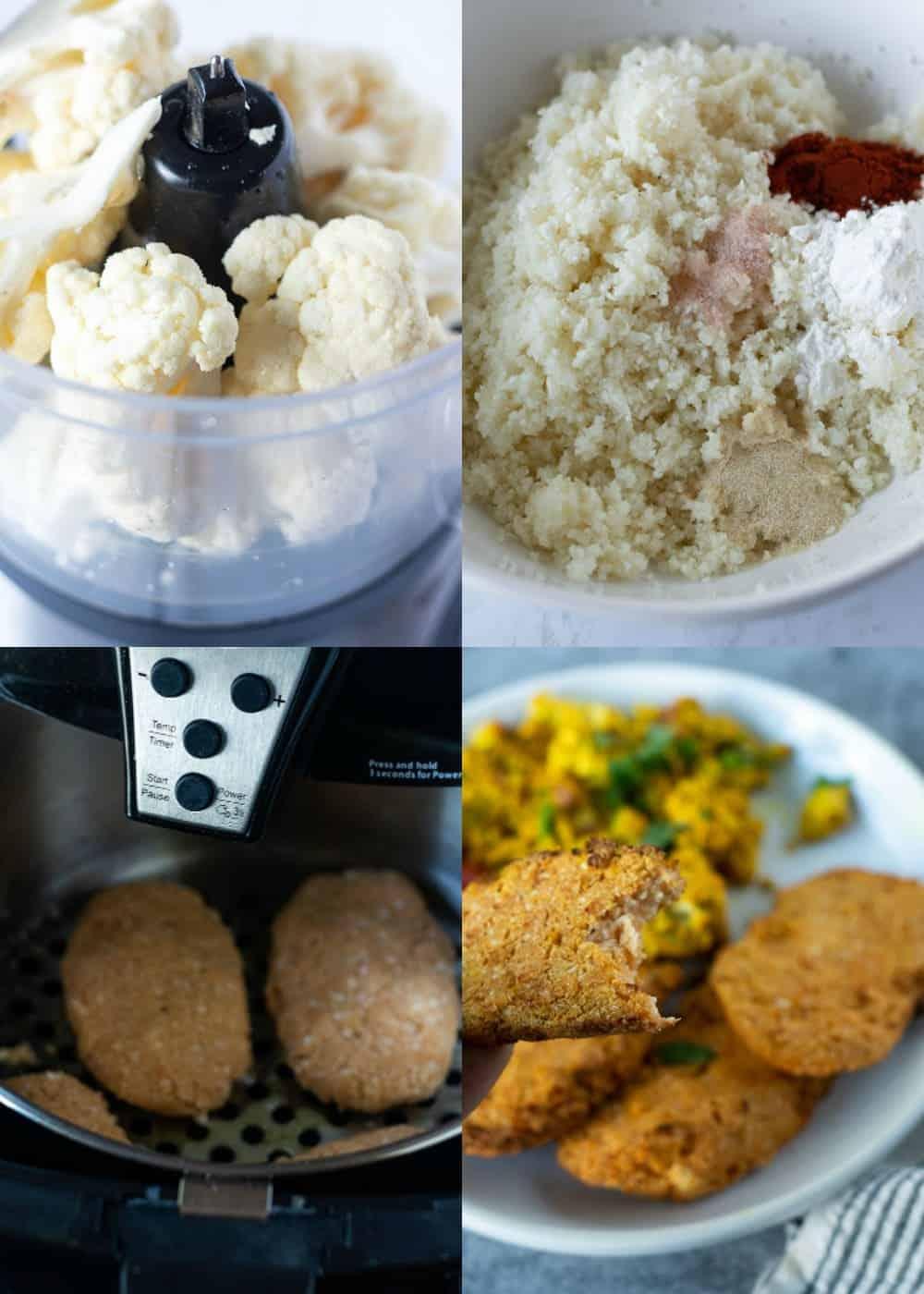 Ingredients for cauliflower hash brown