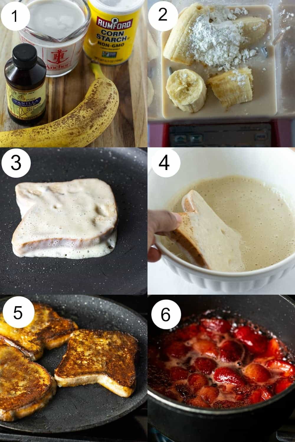 vegan french toast ingredients step by step