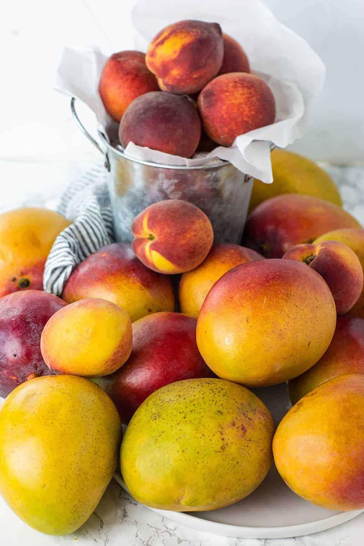 Mango Peach Smoothie Bowl