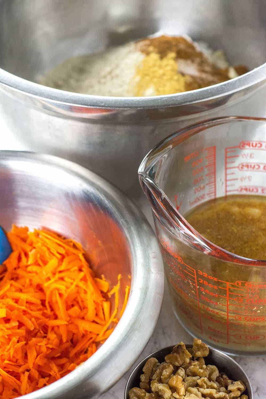 Vegan Gluten-Free Carrot Cake Ingredients