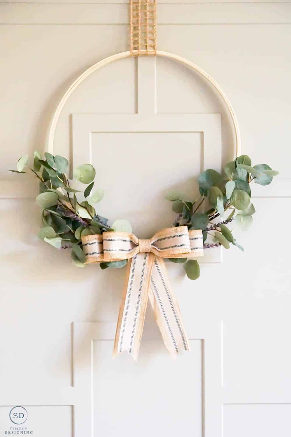 Hoop Wreath perfect for your Summer door