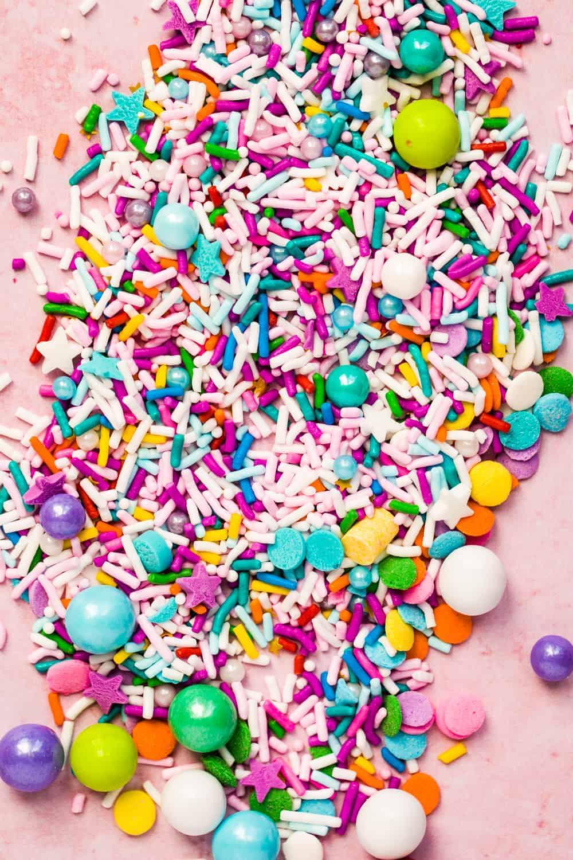 various cupcake sprinkles