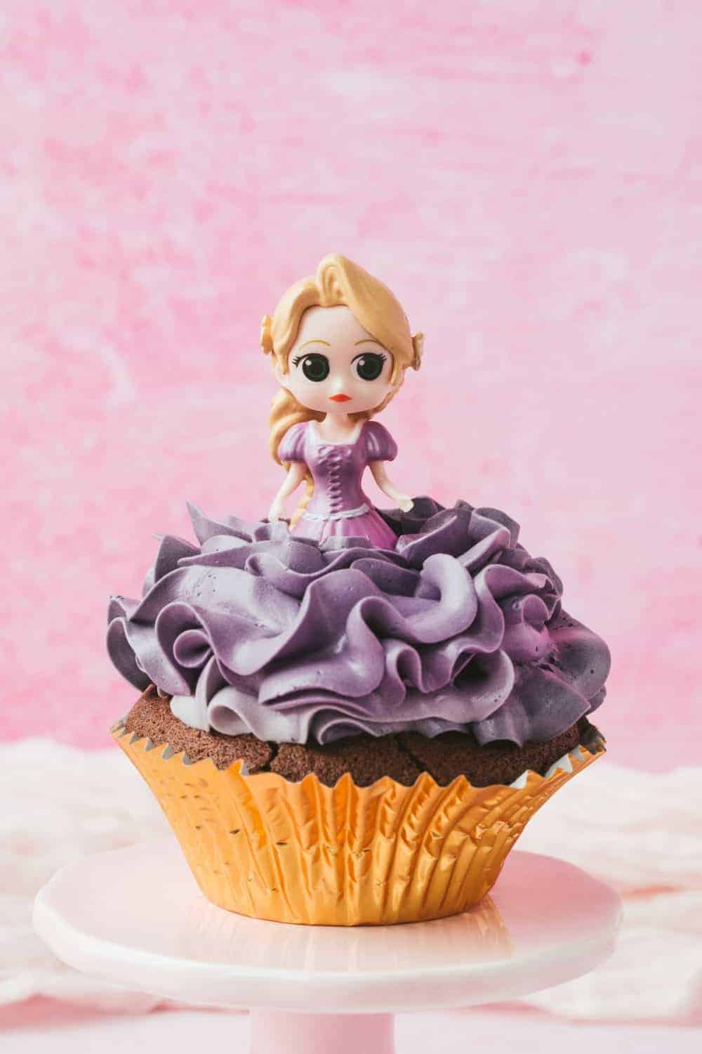 Rapunzel Cupcake for a princess party.