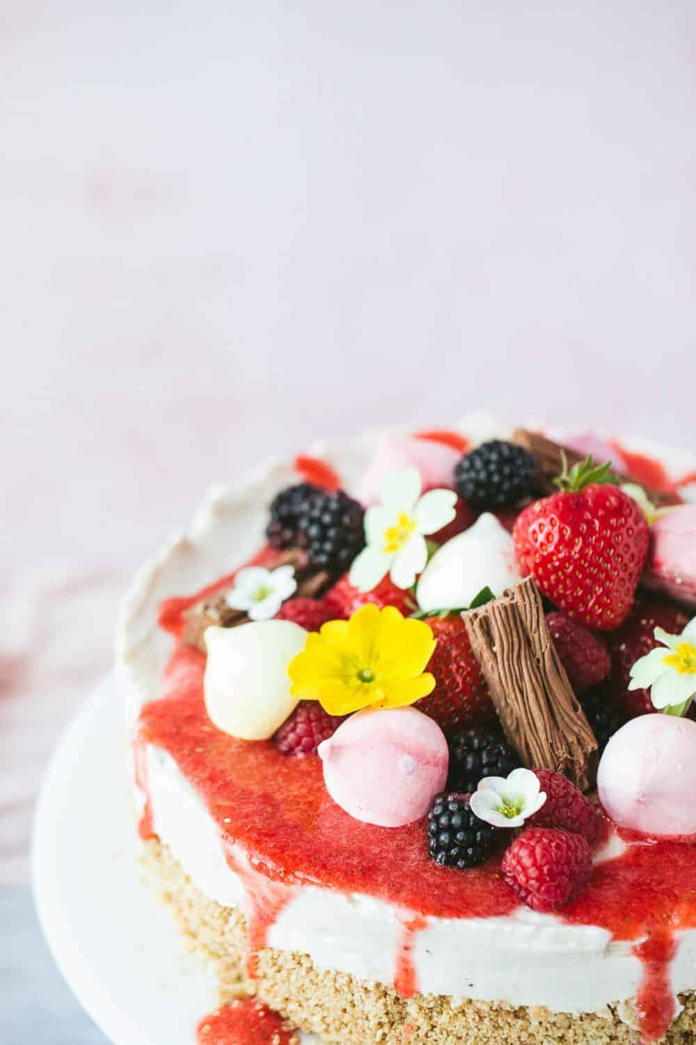 Eton Mess as a cheesecake.