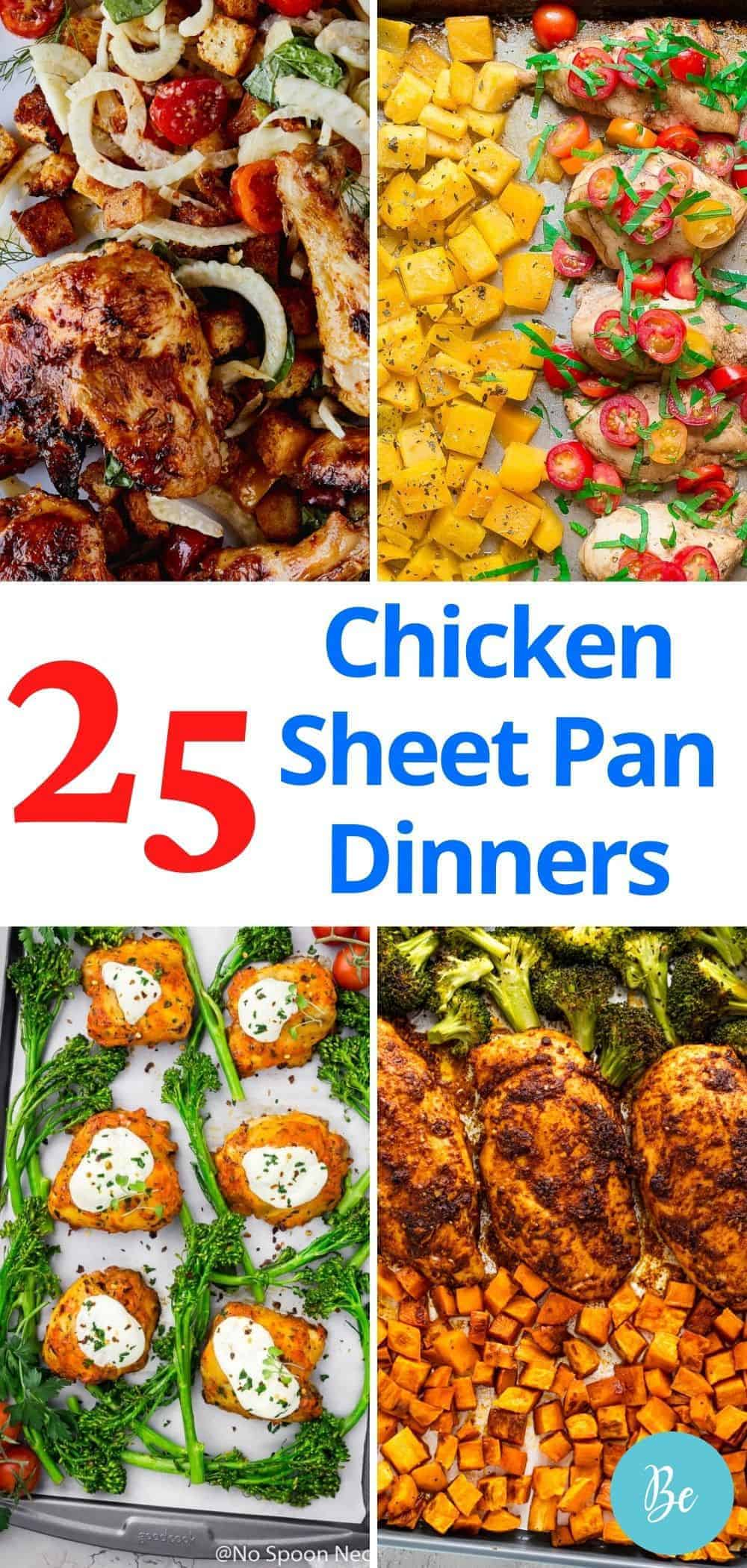 chicken sheet pan dinner pin