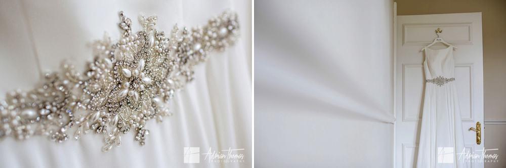 wedding dress details.