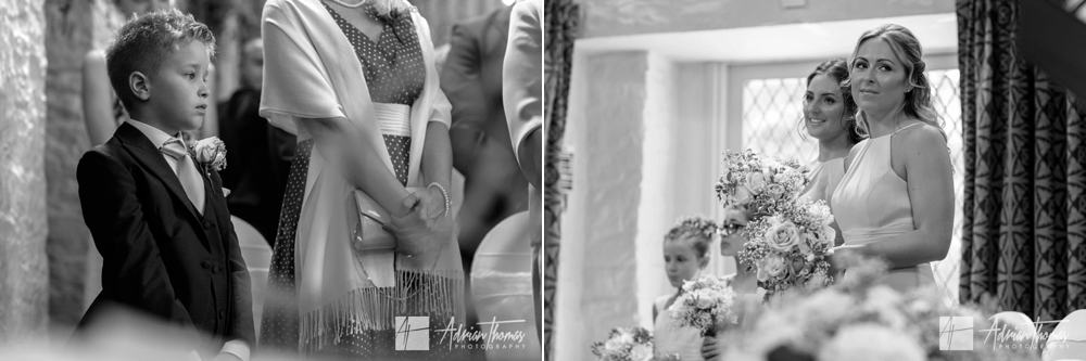 page boy during wedding