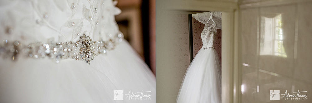 Wedding dress and details.