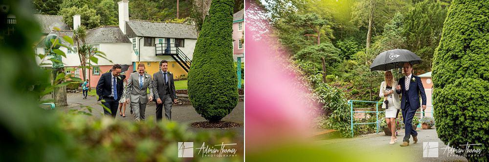 Guest at wedding venue gardens