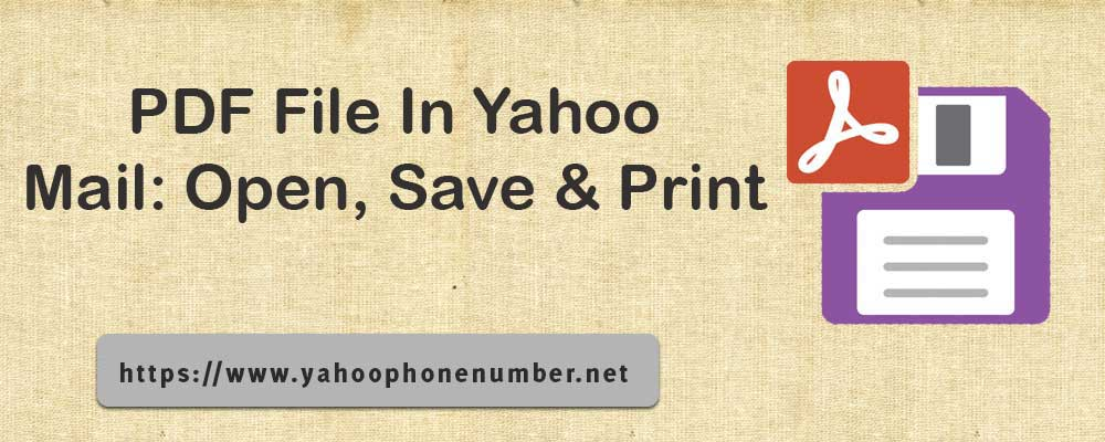 PDF File In Yahoo Mail: Open, Save & Print