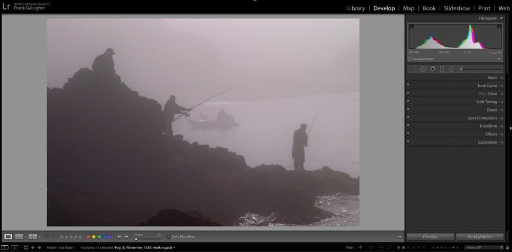 editing a foggy image