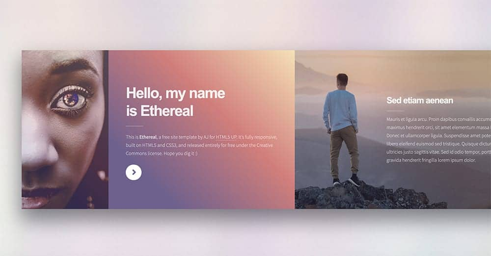 Ethereal free html 5 template