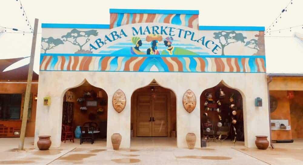 A gulf shores zoo building that resembles an african bazaar